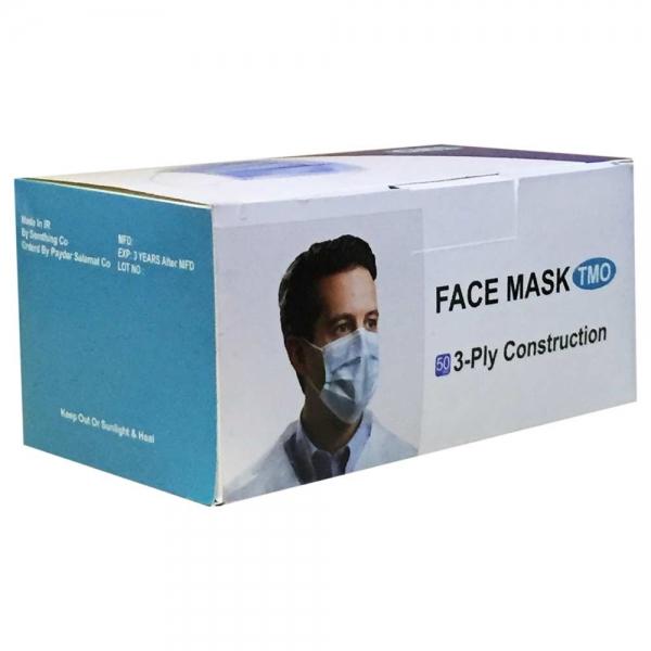 ماسک صورت3 لایه بسته 50 عددی