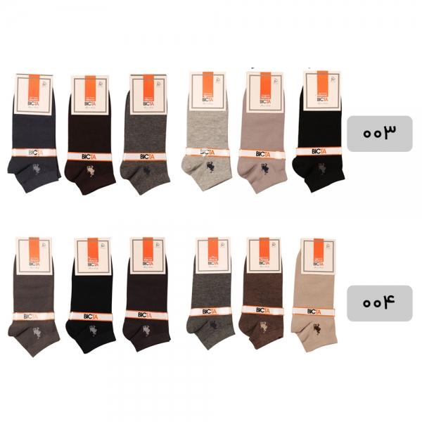 جوراب مردانه پنبه ای طرح پلو بسته 6 عددی