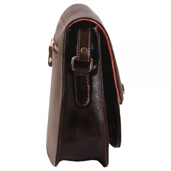 کیف رودوشی چرم مدل قفل دار کد ALZ068
