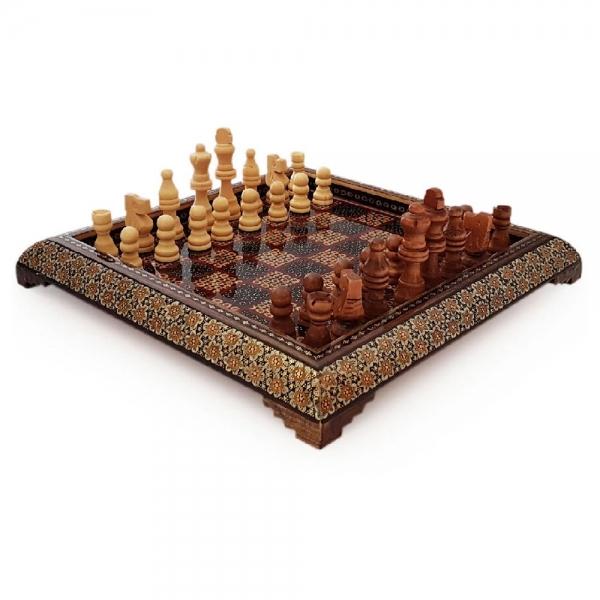 صفحه شطرنج خاتم کاری هنرلوکس